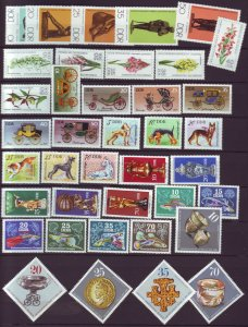J22673 Jlstamps 1976 germany  ddr 7 dif sets mnh #1729//1179 designs