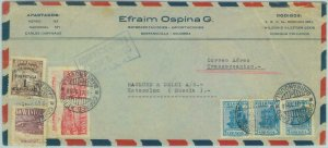84266 - COLOMBIA - Overprinted Stamp on AIRMAIL COVER to SWEDEN 1958