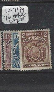 BOLIVIA  (P1606B)    SC 71, 74, 76       MNG