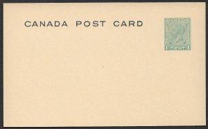 CANADA 1933-34 KGV 1c Green Postal Card Sc UX52b VF Unused