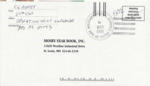 United States  Desert Storm Soldier's Free Mail 1996 Army Postal Service, APO...