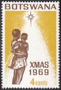 Botswana # 56 mnh ~ 4¢ Christmas, Mother, Child, Star