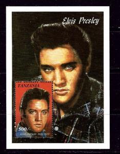Tanzania 812 NH 1992 Elvis Presley Souvenir Sheet
