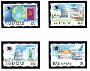 Bahamas 683-86 MNH 1989 World Stamp Expo