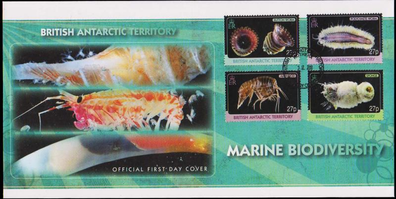 British Antarctic Territory Scott 418-421 Unaddressed.