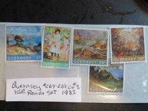 Guernsey Renoir issue  Sc 264-268 Mint, Set OG .VF NH  CV $3