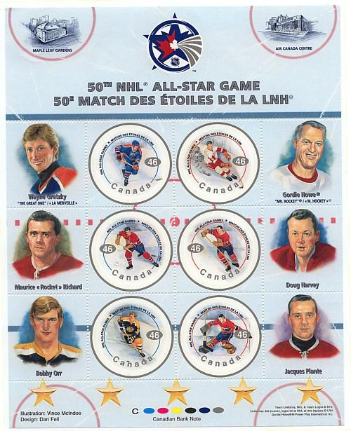 Canada - 2000 50th NHL All-Star Game Pane mint #1838 Mint VF-NH