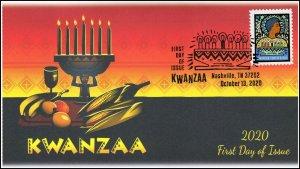 20-261, 2020, Kwanzaa, First Day Cover, Pictorial Postmark, Nashville TN