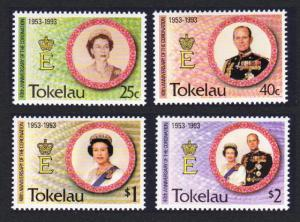 Tokelau 40th Anniversary of Coronation 4v SG#197-200 SC#186-189