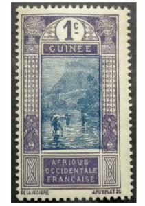 FRENCH GUINEA COLONY 1913. SCOTT # 63.  MINT.