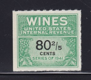 RE194 XF Wine revenue stamp unused nice color cv $ 175 ! see pic !