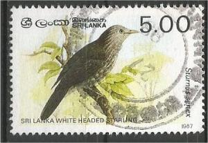SRI LANKA, 1987, used 5r, Birds Scott 838