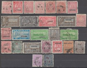 COLLECTION LOT OF # 1709 INDIA STATES TRAVANCORE ANCHEL 26 STAMPS 1911+
