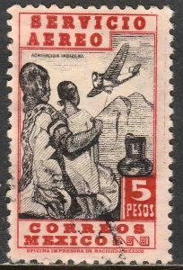 MEXICO C177, $5P 1934 Definitive Wmk Gobierno...279 Used. F-VF. (943)