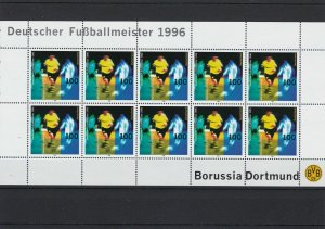 Germany 1996 Borussia Dortmund Football Mint Never Hinged Stamps Sheet Ref 24797