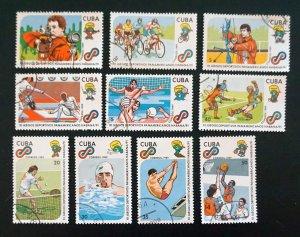 CUBA Sc# 3179-3188  HAVANA PAN AMERICAN GAMES '91 sports CPL SET of 10 1989 used
