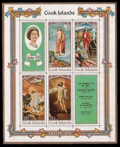 Cook Islands MNH S/S 276a Easter 1976