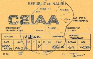 8660 Amateur Radio QSL Card  REPUBLIC OF NAURU
