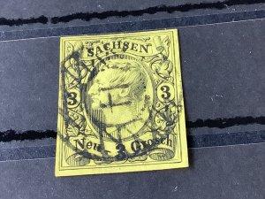 Saxony 1855 Grid Number cancel 14 for Bautzen  Stamp 57191