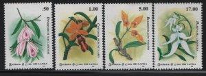 SRI LANKA 1122-1125, (4) SET, Hinged,1994 Flowers