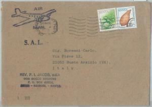82613 -  Kenya - POSTAL HISTORY  -  Airmail COVER to ITALY  - SHELL