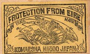 JAPAN Old Matchbox Label Stamp(glued on paper) Collection Lot #D-2
