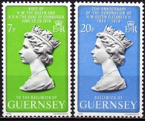 Guernsey. 1978. 163-64. Queen. MNH.