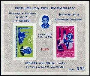 HERRICKSTAMP PARAGUAY Sc.# 841a JFK Imperf S/S