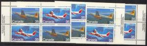 Canada - 1981 35c Aircraft MS Imprint Blocks mint #906a VF-NH