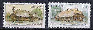 2001 Lithuanian Scott 700-701 19th Century Dwellings MNH