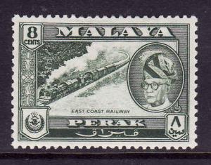 Malaya-Perak-SC#131 unused hinged-8c dark green-Sultan-1957-
