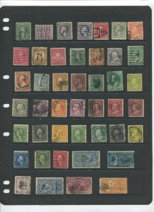 STAMP STATION PERTH USA Early Selection of 44 Stamps Unchecked Mint /Used-Lot 30