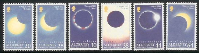 Alderney - 1999 Total Eclipse of the Sun (MNH)