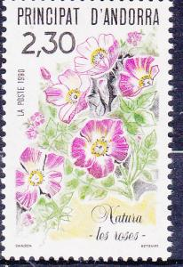 Andorra-French 393-94 MNH 1990 Flora & Fuana