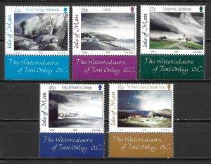 Isle of Man 949-53 Toni Onley Paintings set MNH