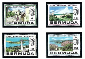 Bermuda 276-79 MNH 1971 Keep Bermuda Beautiful