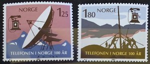 Norway 1980 #763-4 MNH. Telephone