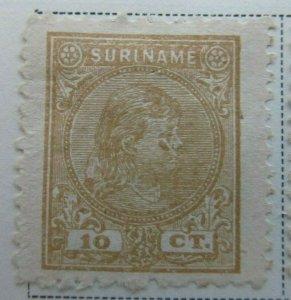 Surinam 1892-93 10c Fine MNG A13P9F936
