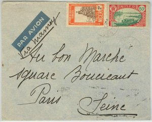 45120 - AOF  NIGER -  POSTAL HISTORY  -  AIRMAIL COVER to FRANCE 1936