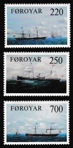 Faroe Is. Old Cargo Liners 3v SG#78-80 SC#90-92