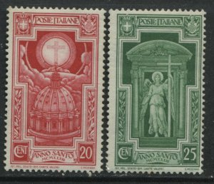 Italy 1933 Holy Year 20 and 25 centesimi unmounted mint NH