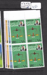 QATAR (PP1902B) HUMAN RIGHTS SG 652-5 BL OF 4  MNH