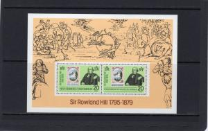 New Hebrides British & French 1979 Sc# 266a Stamp on Stamp/UPU/Rowland Hill S/S