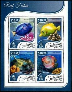 HERRICKSTAMP NEW ISSUES SOLOMON ISLANDS Sc.# 2388 Reef Fishes Sheetlet