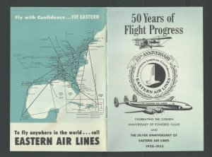 1953 Eastern Airlines 50 Year Celebration Of powered Flight Pamphlet 20 P