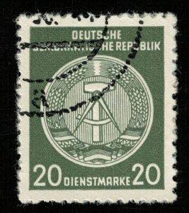 1954, Coat of Arms, 20 Dienstmarke, Perf. 13x21/2, MC #A22 (T-8168)