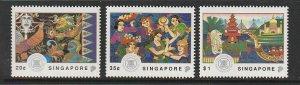1992 Singapore -Sc 634-36 - 3 singles - MNH VF - Visit ASEAN Year