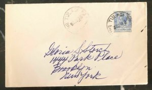 1936 Tulagi Solomon Island Cover To Brooklyn New York USA