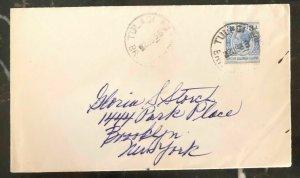 1936 Tulagi Solomon Island Cover To Brooklyn New York USA