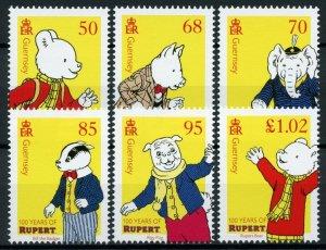Guernsey Comics Stamps 2020 MNH Rupert Bear Bill Badger Cartoons 6v Set